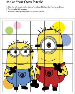 Puzzle, Despicable Me, Games - Free Printable