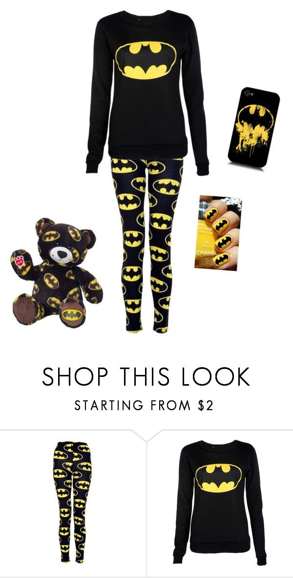 """Batman pajamas"" by music-rules-1817 ❤ liked on Polyvore"