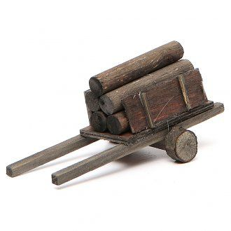 Carretto con legna presepe fai da te | vendita online su HOLYART