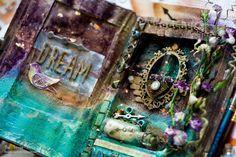 """Вдохновение: Альтер-бук """"Великий Гэтсби. Зеленый огонек"""". Altered book """"The Great Gatsby. The green light"""""""