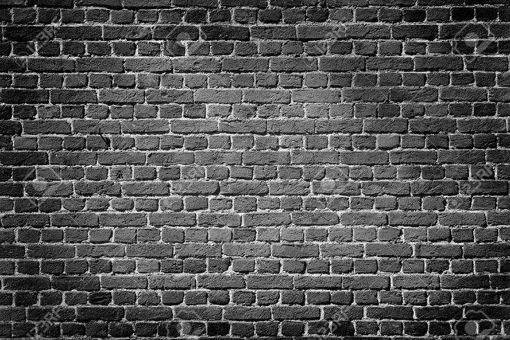 Old Dark Brick Wall, Texture Background Stock Photo