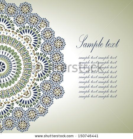 Vintage Background Traditional Ottoman Motifs.Vector Illustration - 150746441 : Shutterstock