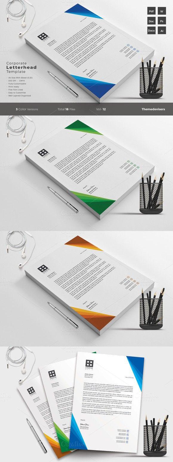 25 best ideas about Letterhead Template – Corporate Letterhead Template