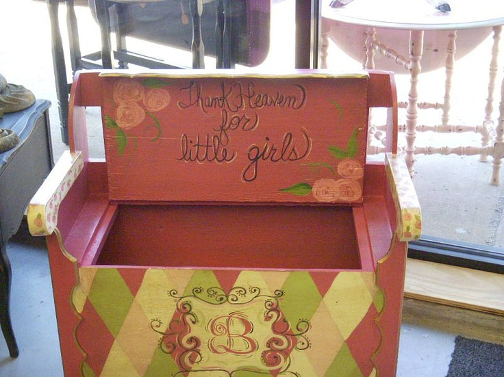 #painted toy chest