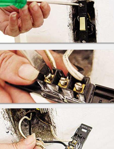 Trocar um interruptor em casa