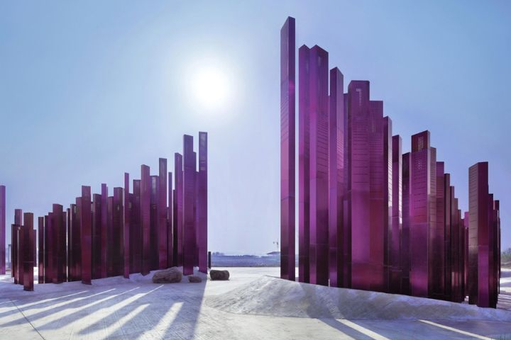 Sound Wave Installation by Penda at Myrtle Tree Garden, Xiangyang – China » Retail Design Blog