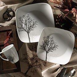 Corelle® Square™ Timber Shadows-Serviciu de masă-16 piese