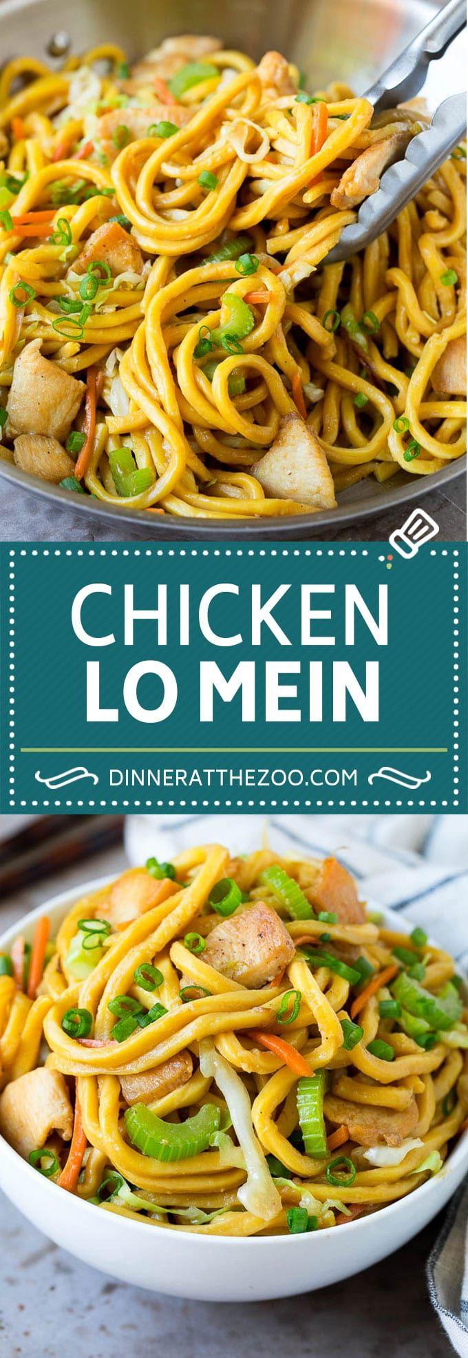 Chicken Lo Mein | Stir Fry Noodles #chicken #noodl…