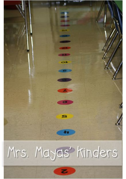 Line Up! Helps with number lines and lining up at the door.