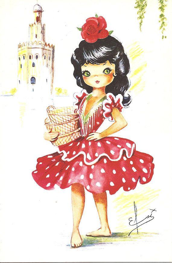 Vintage Spanish postcard