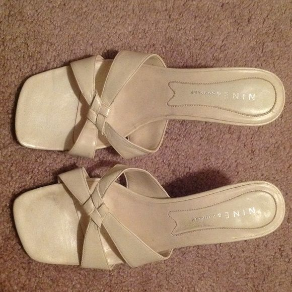 Nine & Co. ivory sandals 7 1/2 Nine & Co. ivory sandals.  Size 7 1/2.  Used condition, lots of life left. Nine & Co. Shoes Sandals
