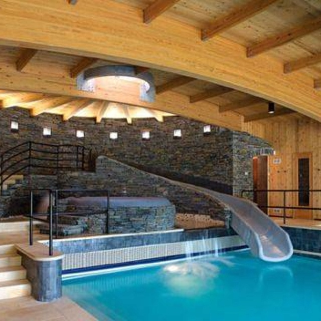 49 best cool pools and water slides images on pinterest architecture backyard ideas and - Cool indoor pools with slides ...