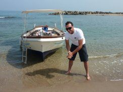 Still with our OLD BOAT...noch mit unserem alten Boot...check out the new one here http://www.calabriasportfishing.com/en/