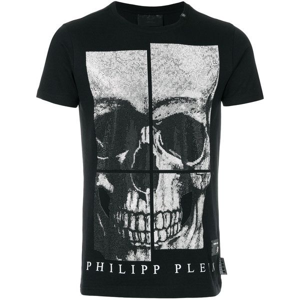 Philipp Plein All Of Me T-shirt (2.535 BRL) ❤ liked on Polyvore featuring men's fashion, men's clothing, men's shirts, men's t-shirts, black, philipp plein men's t shirt, men's round neck t shirts, mens cotton shirts, mens logo t shirts and mens cotton t shirts