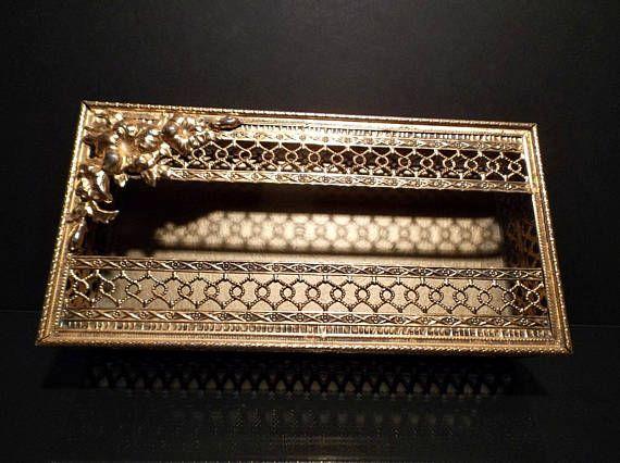 Kleenex Holder Gold Metal