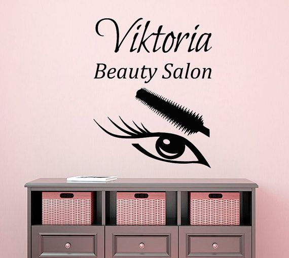 Best Beauty Salon Decal Images On Pinterest Beauty Salons - Custom vinyl wall decals for hair salon