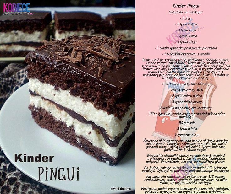 Pyszne ciasto Kinder Pingui!!! Idealne do kawki♥