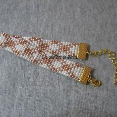 Bracelet en perles de rocaille tissé main 1
