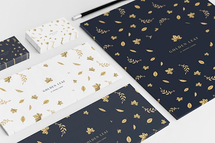 Alliteration Inspiration: Gold & Grains / Golden Leaf branding by Daniel Casas