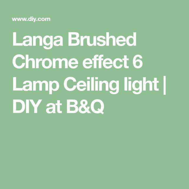 Langa Brushed Chrome effect 6 Lamp Ceiling light | DIY at ...