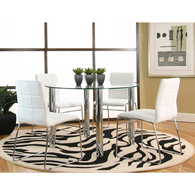 Napoli White Round Five Piece Dinette Set Bernie And Phyls My Small Home To Be Built