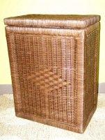 Indo ratanový prádelní koš hranatý - tmavý