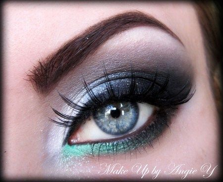 Grey green & silver = a sophisticated yet festive combination for our @FAUX LASH competition