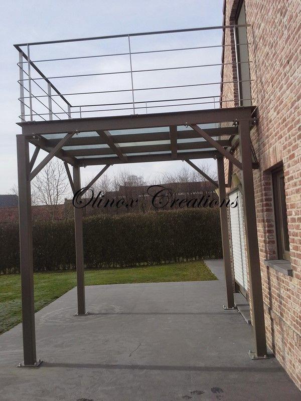 Terrasse structure métallique