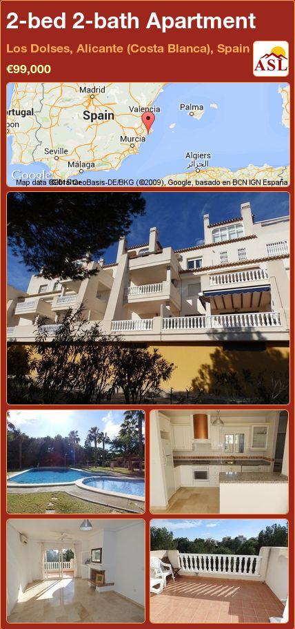 2-bed 2-bath Apartment in Los Dolses, Alicante (Costa Blanca), Spain ►€99,000 #PropertyForSaleInSpain