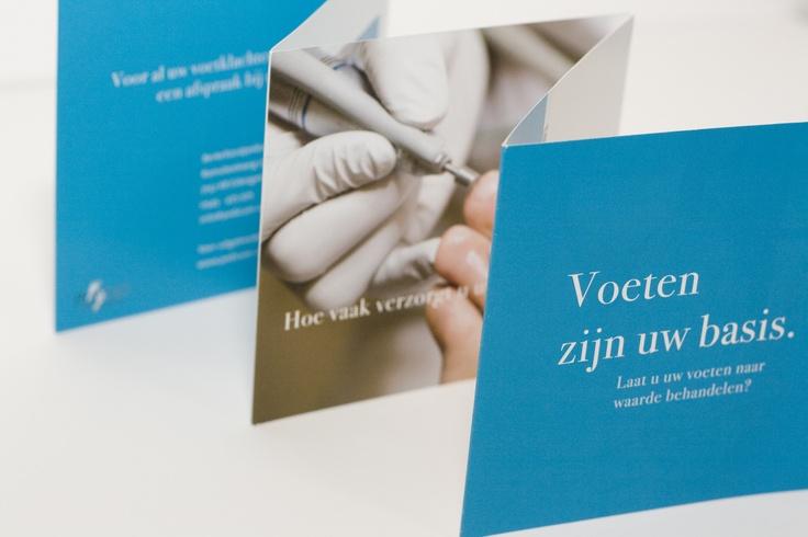 Medisch Pedicure Ursela, praktijkfolder. Compact en informatief, het goede gevoel is het belangrijkst.