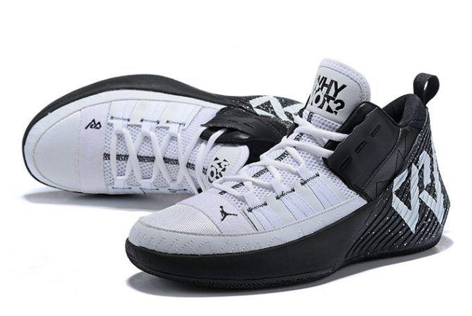 Jordan Why Not Zer0.1 Chaos Black White Men s Basketball Shoes in ... bb403051e4