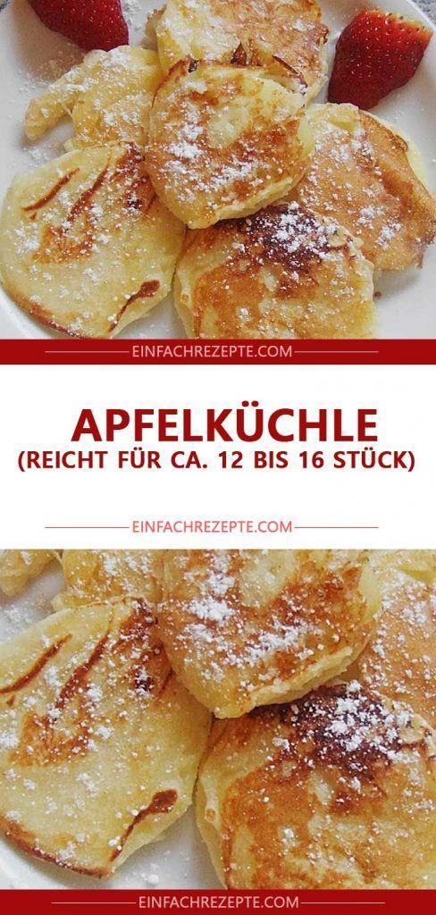 Apfelküchle (reicht für ca. 12 bis 16 Stück) 😍 😍 😍