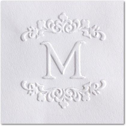 Spring Initial - Embosser - Three Designing Women - White : Front