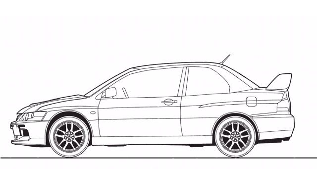 Mitsubishi Lancer Evo Car Drawing Jdm Cars Mitsubishi