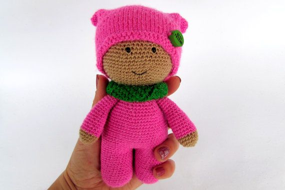 crochet baby doll knitted doll cuddly baby toys by PostilToys