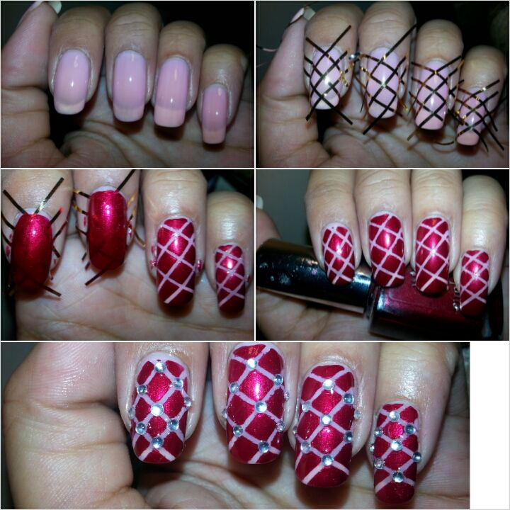 Nail Art Using Striping Tape: DIY Striping Tape Nail Art Tutorial #nailtutorial