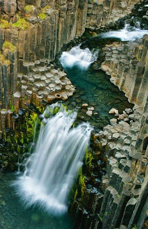 Columnar Basalt On Iceland Coast Litlanesfoss National Geographic