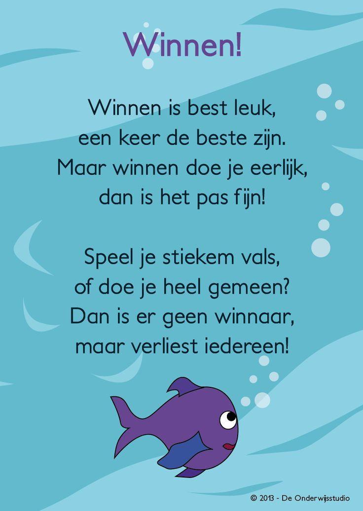 Als extraatje! Een opzegversje bij het boekje Winvis voor de Kinderboekenweek 2013. Meer lesmateriaal vind je op onze website of zoek via Google op Winvis!