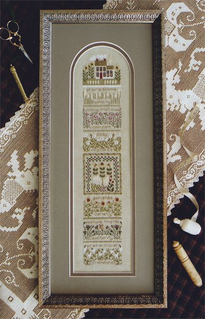 House and garden flowers cross stitch ... The Drawn Thread