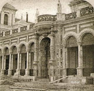 San Telmo Palace. Photo by Jules Marinier in 1865.