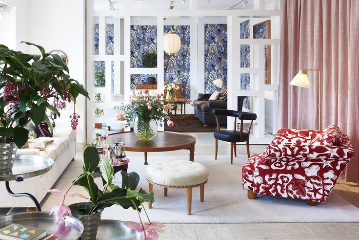 Spring interior from Svenskt Tenn's store at Strandvägen 5 in Stockholm.