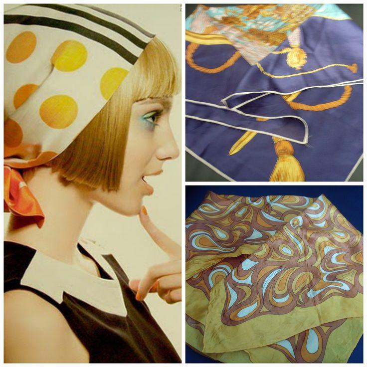 Auténticos pañuelos vintage años 60Para comprarlos, entra en nuestra página de Facebook: Baúl De-sastre https://www.facebook.com/pages/Ba%C3%BAl-De-sastre/1453956378172483