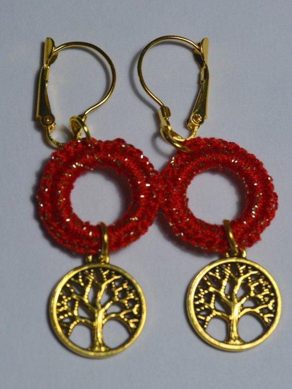 brincos em crochet - crochet earrings by PatichaCrafts on Etsy