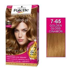 Schwarzkopf Palette Deluxe Intensive Oil Care Color Golden Gloss Cinnamon 7-65