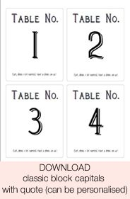 Print My Own Wedding Table Numbers Cards Wine Bottle Stickers For Table  Numbers Personalise  Numbers Templates Free