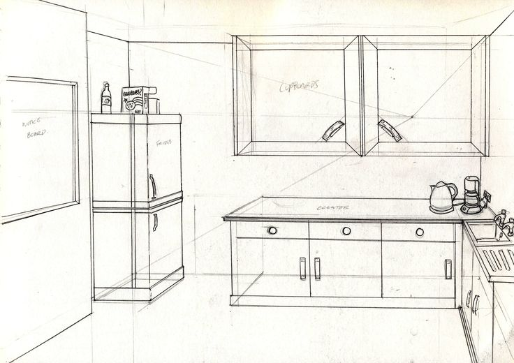 break room aesthetic and props perspective perspective drawing and drawings. Black Bedroom Furniture Sets. Home Design Ideas