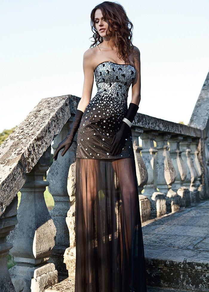 Вечернее платье от Оксаны мухи с прозрачной юбкой