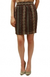 Aztec Print Skirt In Red