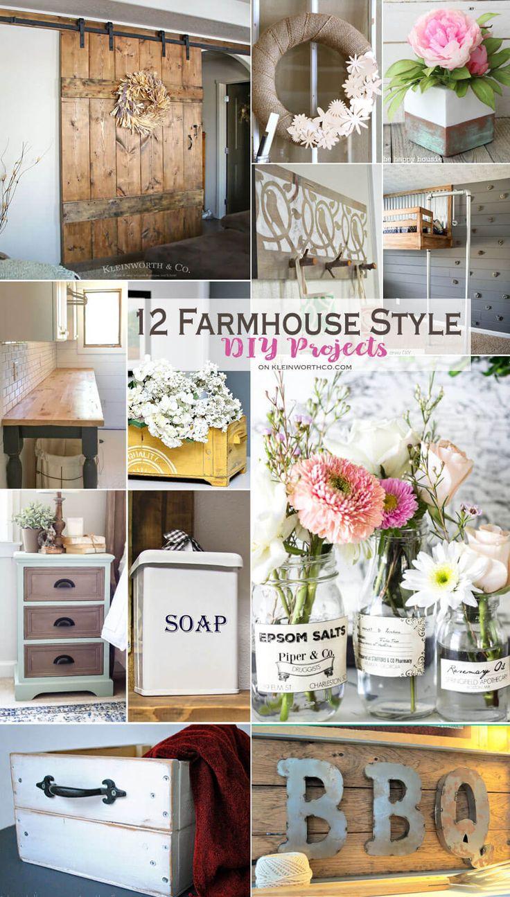 12 farmhouse style diy projects
