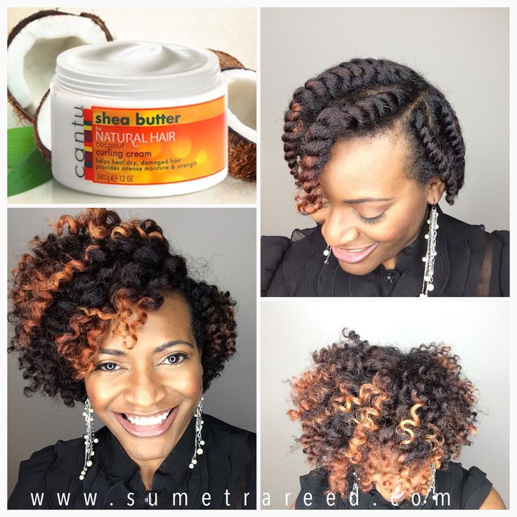 Chunky Flat Twist Out using Cantu Curling Cream - Sumetra Reed